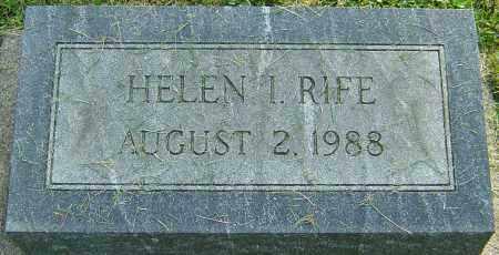 RIFE, HELEN I - Montgomery County, Ohio | HELEN I RIFE - Ohio Gravestone Photos