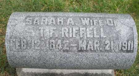 RIFFELL, SARAH H. - Montgomery County, Ohio | SARAH H. RIFFELL - Ohio Gravestone Photos