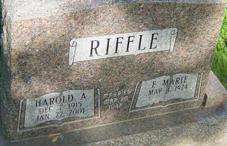 RIFFLE, HAROLD A - Montgomery County, Ohio | HAROLD A RIFFLE - Ohio Gravestone Photos