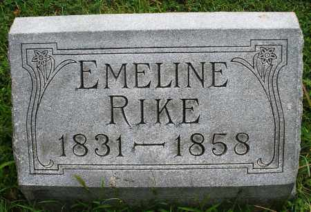 RIKE, EMELINE - Montgomery County, Ohio | EMELINE RIKE - Ohio Gravestone Photos