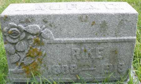 RIKE, LAURA - Montgomery County, Ohio   LAURA RIKE - Ohio Gravestone Photos