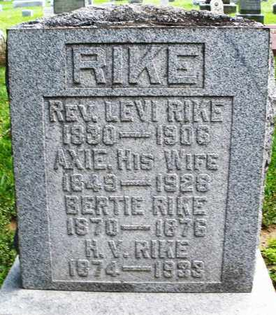 RIKE, BERTIE - Montgomery County, Ohio | BERTIE RIKE - Ohio Gravestone Photos