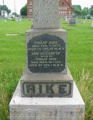 RIKE, PHILIP - Montgomery County, Ohio | PHILIP RIKE - Ohio Gravestone Photos
