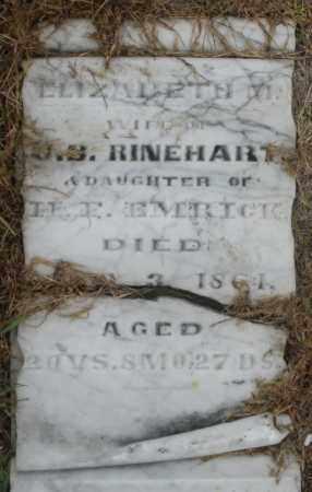 RINEHART, ELIZABETH M. - Montgomery County, Ohio | ELIZABETH M. RINEHART - Ohio Gravestone Photos