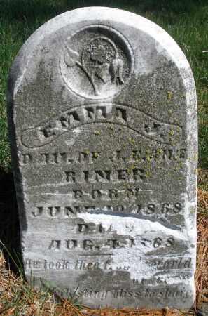 RINER, EMMA J. - Montgomery County, Ohio | EMMA J. RINER - Ohio Gravestone Photos