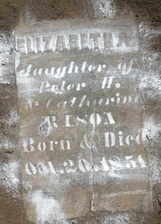 RISON, ELIZABETH - Montgomery County, Ohio | ELIZABETH RISON - Ohio Gravestone Photos