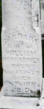 ROADARMER, BARBARA - Montgomery County, Ohio | BARBARA ROADARMER - Ohio Gravestone Photos