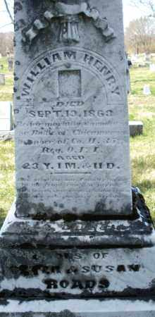 ROADS, WILLIAM HENRY - Montgomery County, Ohio | WILLIAM HENRY ROADS - Ohio Gravestone Photos