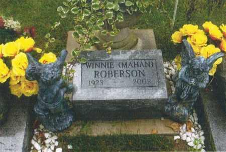 MAHAN ROBERSON, WINNIE - Montgomery County, Ohio | WINNIE MAHAN ROBERSON - Ohio Gravestone Photos