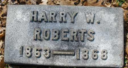 ROBERTS, HARRY W. - Montgomery County, Ohio | HARRY W. ROBERTS - Ohio Gravestone Photos