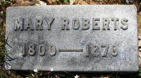 ROBERTS, MARY - Montgomery County, Ohio | MARY ROBERTS - Ohio Gravestone Photos