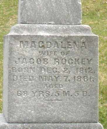 ROCKEY, MAGDALENA - Montgomery County, Ohio | MAGDALENA ROCKEY - Ohio Gravestone Photos
