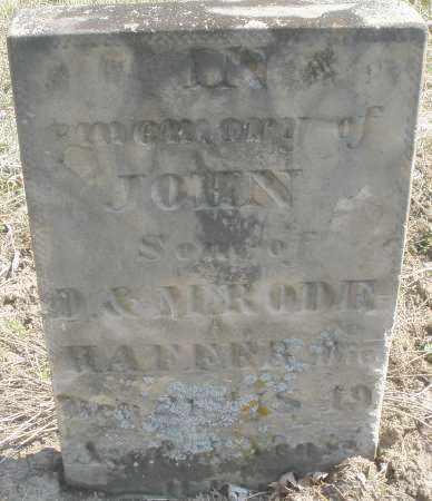 RODEHAFFER, JOHN - Montgomery County, Ohio | JOHN RODEHAFFER - Ohio Gravestone Photos