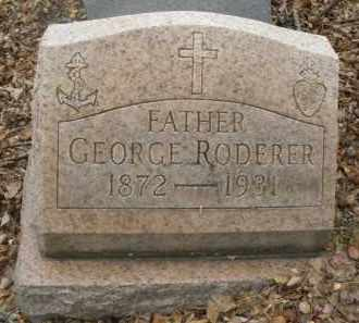 RODERER, GEORGE - Montgomery County, Ohio | GEORGE RODERER - Ohio Gravestone Photos