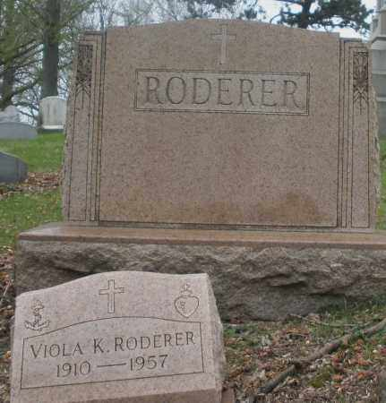 RODERER, MONUMENT - Montgomery County, Ohio | MONUMENT RODERER - Ohio Gravestone Photos