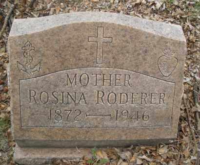 RODERER, ROSINA - Montgomery County, Ohio | ROSINA RODERER - Ohio Gravestone Photos