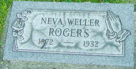 WELLER ROGERS, NEVA - Montgomery County, Ohio | NEVA WELLER ROGERS - Ohio Gravestone Photos