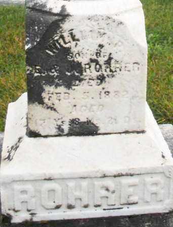 ROHRER, WILLIAM - Montgomery County, Ohio | WILLIAM ROHRER - Ohio Gravestone Photos