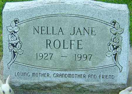 ROLFE, NELLA JANE - Montgomery County, Ohio | NELLA JANE ROLFE - Ohio Gravestone Photos