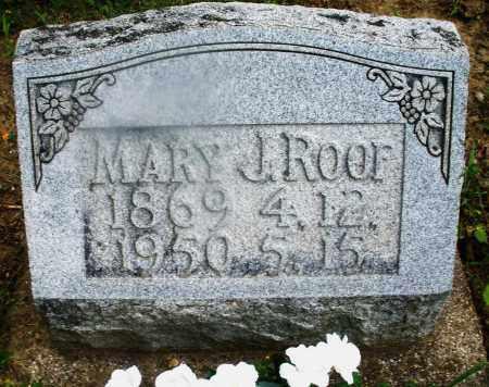 ROOF, MARY J. - Montgomery County, Ohio | MARY J. ROOF - Ohio Gravestone Photos