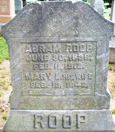 ROOP, MARY L. - Montgomery County, Ohio | MARY L. ROOP - Ohio Gravestone Photos