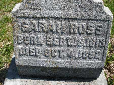 ROSS, SARAH - Montgomery County, Ohio | SARAH ROSS - Ohio Gravestone Photos
