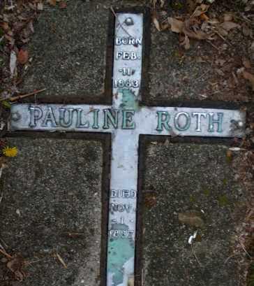 ROTH, PAULINE - Montgomery County, Ohio | PAULINE ROTH - Ohio Gravestone Photos
