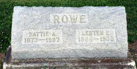 ROWE, LERTEN E. - Montgomery County, Ohio | LERTEN E. ROWE - Ohio Gravestone Photos