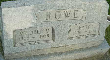 ROWE, MILDRED V - Montgomery County, Ohio | MILDRED V ROWE - Ohio Gravestone Photos