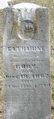 RUBY, CATHARINE - Montgomery County, Ohio   CATHARINE RUBY - Ohio Gravestone Photos