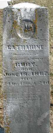 RUBY, CATHARINE - Montgomery County, Ohio | CATHARINE RUBY - Ohio Gravestone Photos