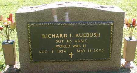 RUEBUSH, RICHARD L. - Montgomery County, Ohio | RICHARD L. RUEBUSH - Ohio Gravestone Photos