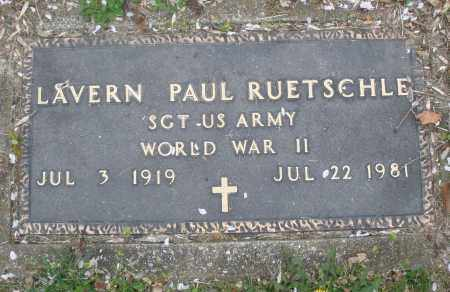 RUETSCHLE, LAVERN PAUL - Montgomery County, Ohio | LAVERN PAUL RUETSCHLE - Ohio Gravestone Photos