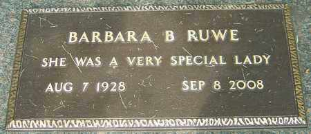 RUWE, BARBARA B - Montgomery County, Ohio | BARBARA B RUWE - Ohio Gravestone Photos