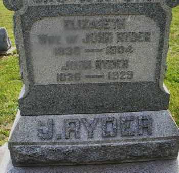 RYDER, ELIZABETH - Montgomery County, Ohio | ELIZABETH RYDER - Ohio Gravestone Photos