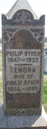 RYDER, PHILIP - Montgomery County, Ohio | PHILIP RYDER - Ohio Gravestone Photos
