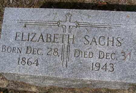 SACHS, ELIZABETH - Montgomery County, Ohio | ELIZABETH SACHS - Ohio Gravestone Photos
