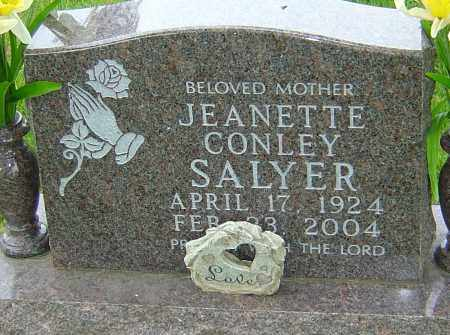 CONLEY SALYER, JEANETTE - Montgomery County, Ohio | JEANETTE CONLEY SALYER - Ohio Gravestone Photos