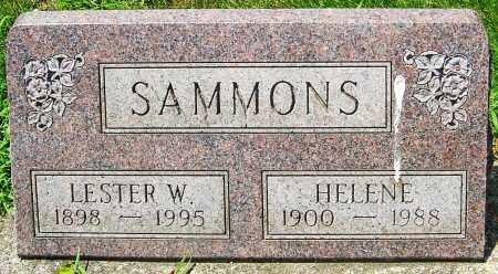 SAMMONS, LESTER W - Montgomery County, Ohio | LESTER W SAMMONS - Ohio Gravestone Photos