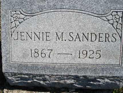 SANDERS, JENNIE M. - Montgomery County, Ohio | JENNIE M. SANDERS - Ohio Gravestone Photos