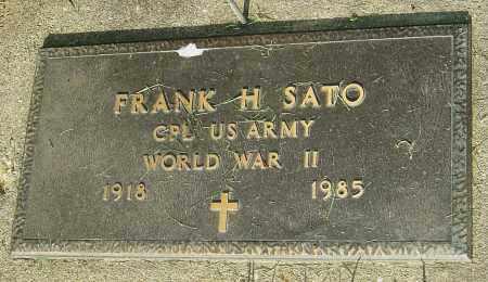 SATO, FRANK H - Montgomery County, Ohio | FRANK H SATO - Ohio Gravestone Photos