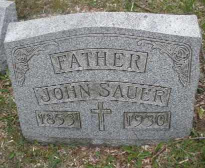 SAUER, JOHN - Montgomery County, Ohio | JOHN SAUER - Ohio Gravestone Photos