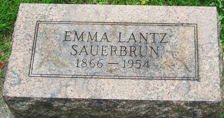 LANTZ SAUERBRUN, EMMA - Montgomery County, Ohio | EMMA LANTZ SAUERBRUN - Ohio Gravestone Photos