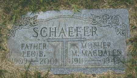 SCHAEFER, LEO B. - Montgomery County, Ohio | LEO B. SCHAEFER - Ohio Gravestone Photos
