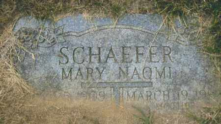SCHAEFER, MARY NAOMI - Montgomery County, Ohio | MARY NAOMI SCHAEFER - Ohio Gravestone Photos
