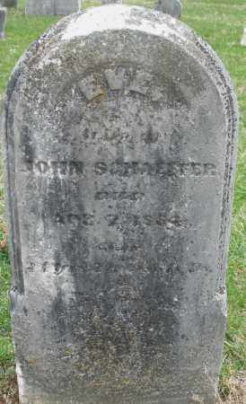 SCHAEFFER, EVE - Montgomery County, Ohio | EVE SCHAEFFER - Ohio Gravestone Photos
