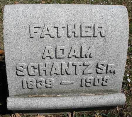 SCHANTZ, ADAM SR. - Montgomery County, Ohio | ADAM SR. SCHANTZ - Ohio Gravestone Photos