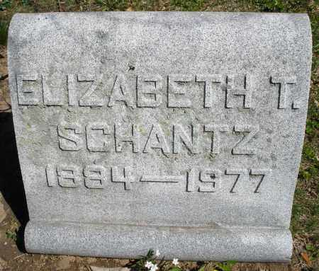 SCHANTZ, ELIZABETH T. - Montgomery County, Ohio | ELIZABETH T. SCHANTZ - Ohio Gravestone Photos