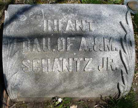 SCHANTZ, INFANT DAUGHTER - Montgomery County, Ohio | INFANT DAUGHTER SCHANTZ - Ohio Gravestone Photos