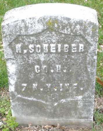 SCHEIBER, W. - Montgomery County, Ohio | W. SCHEIBER - Ohio Gravestone Photos